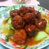 今日の晩飯 肉団子の甘酢あんかけと中華風コーンスープを作ってみた