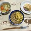 豆腐そぼろ丼とポトフ