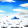 雲海を飛ぶぷちゴン(Photoshop)|ぷちゴン