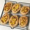 チーズコーンパン、ライスボールと野菜タルタルとおからラタトゥイユ風