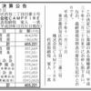 株式会社CAMPFIRE 第7期決算公告 / 減資公告