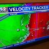 週末の朝、トルネードの危険性が高まる。 外は真っ暗、正直怖かったですが嵐は直ぐに去りました。