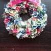 【作り方】ハギレ布で作る、ボリュームたっぷりなクリスマスリース♪