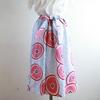 浴衣地 菊模様 リボンベルトのゴムスカート Fサイズができました!