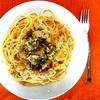 ファミマの鶏つくね串入りペペロンチーノ