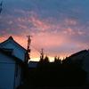 美しい夕焼け あしたは晴れ?