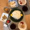 素麺、豚しゃぶとミニトマト、レンコンのチーズ焼き