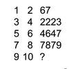 【算数パズル】1,2,67なら9,10,?
