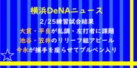 【横浜DeNA】練習試合結果・開幕候補の大貫・平良が乱調【ニュース】