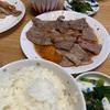 焼肉 コープヌードル小エビ天ぷら コストコアップルパイ