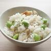 ほっけの開きの食べ方アレンジほっけと枝豆の炊き込みご飯(^-^)