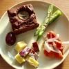 朝ご飯:チョコバナナブラウニーと彩り良し!簡単常備菜