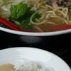 軍鶏麺と麦とろ