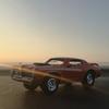 '69 Mercury Cougar Eliminatorに乗って、夕陽の中ドライブ。