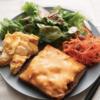 チェダーチーズのツナメルトの朝食で笑顔! フライパンでオープンホットサンド。
