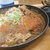 チキンカツの牛すき鍋定食