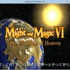 Might & Magic VI 起動するけど日本語FONTが化ける
