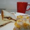 簡単朝食サンド〜くるみ入チョコクリームのサンドイッチ