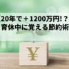 【育休中に学ぶ】20年で1200万円も増える節約術