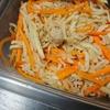 焼きそば、焼き飯、鶏ガラ切り干し炒め