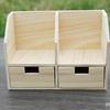 木のミニチュア家具【ディスプレイスペース×2、小物入れ×2】