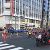 東京マラソンの応援。