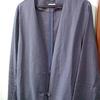 ラフに羽織れるantiquaの麻混ノーカラージャケット