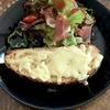 こなログ チーズトーストサラダプレート