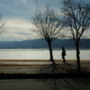 冬の諏訪湖(御神渡り前) 〜同じものを何度も撮る