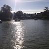 足漕ぎ式スワンボートの池ー農業公園「ブルーメの丘」にて
