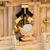 金幣芯と神鏡のバランス 階段前ならさらに大きめでも見栄え良し