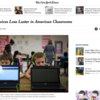 The New York Times 「Apple's Devices Lose Luster in American Classrooms」(2017年3月2日)