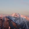〈個人山行〉鳳凰山(観音岳)とモルゲンロートに染まる北岳観望