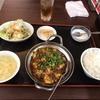 羽衣町の「一祠八堂」で麻婆豆腐定食