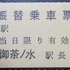 【切符系】 振替乗車票の思い出(中央本線・御茶ノ水駅)