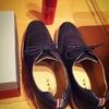 新しい靴買いました