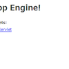 Google App Engine for JavaでHello World!
