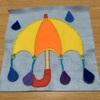 フェルトの布絵本①雨と傘