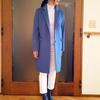 細い襟のシンプルなチェスターコートでクラス感を呼び込むおしゃれ