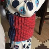 モチモチの腹巻編みました