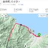 古平川上流稲倉石へ自転車63km