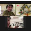 和紙で作るクリスマスリースオンラインワークショップ初開催!