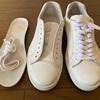 白い靴が気になります!