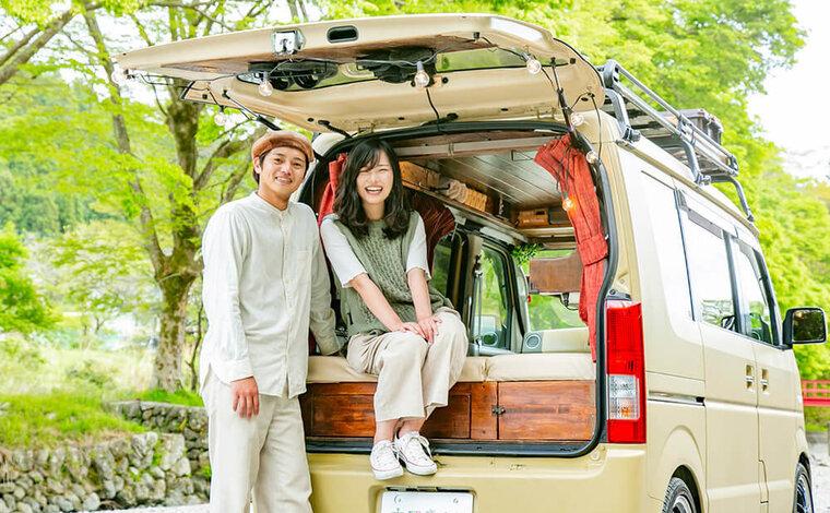 軽バンを車中泊カスタムして日本一周へ!スクラムワゴンでバンライフ