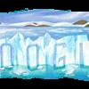 ロス・グラシアレス国立公園のロゴの氷河はペリト・モレノ氷河