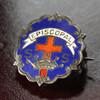 USAヴィンテージピンバッジ青|EPISCOPAL教会日曜学校メンバーブローチ [ACS-18-005]