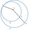 第3巻命題6 接する二円の中心