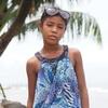 グアテマラ東部リビングストンで出会ったガリフナ族の美少女