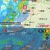 現在地のYahoo天気予報「雨雲地図」とWindy.com「雨、雪予測地図」を1画面に。