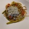 今週のアテパスタ アスパラとプチトマト